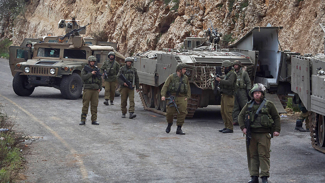 IDF vehicles near the border with Lebanon in January 2015 (Photo: Reuters) (Photo: Reuters)