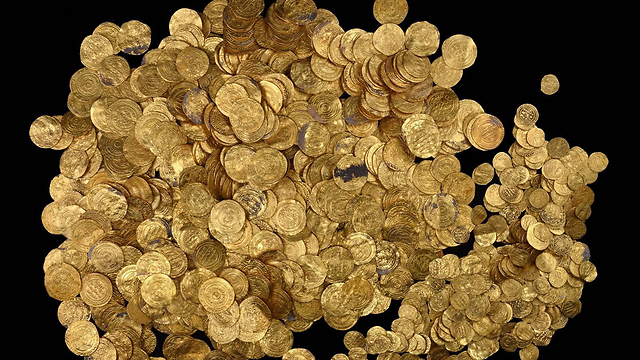 Excavations will be carried out in hope of shedding light on origin of treasure (Photo: AFP/Israel Antiquities Authority) (Photo: AFP/Israel Antiquities Authority )