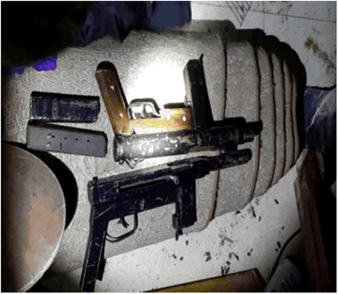 Weapons recovered by Israeli security forces in Hebron. (Photo: Shin Bet Spokesman) (Photo: Shin Bet Spokesman)