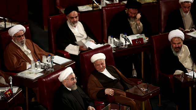 The leaders of Iran. Singing their genocidal mantra for years (Photo: AFP)