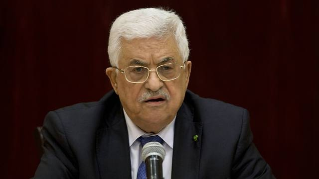 Mahmoud Abbas attends a special meeting of the Palestinian leadership in Ramallah (Photo: AP) (Photo: AP)