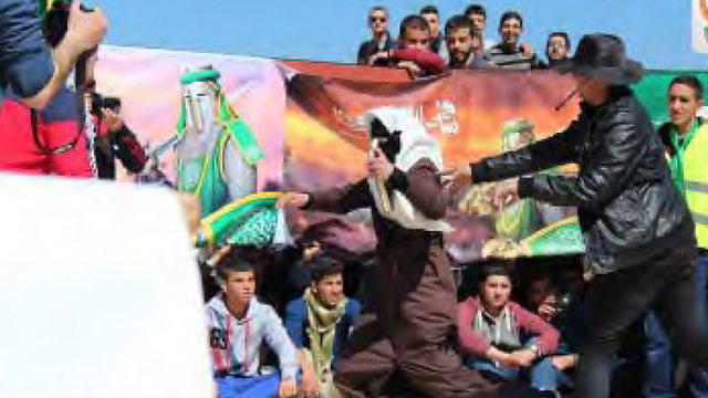 Theatrical play calling for another intifada