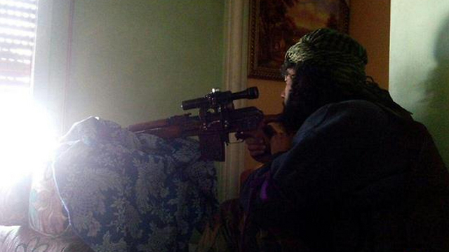 Photo released by ISIS fighters from inside the Yarmouk refugee camp.