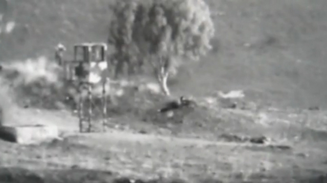 Fighting on the Syrian side of the Golan Heights.