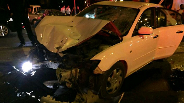 The vehicle involved in the incident (Photo: Fire Department)