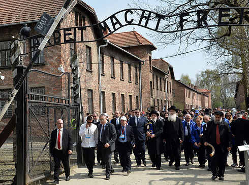 March of the Living at Auschwitz. Growing interest in visits leads to new safety requirements (Photo: AFP)