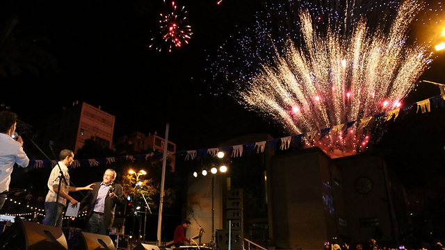 Independence Day fireworks in Ramat Gan (Photo: Dima Dorf)