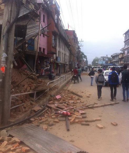 Destruction in Kathmandu.