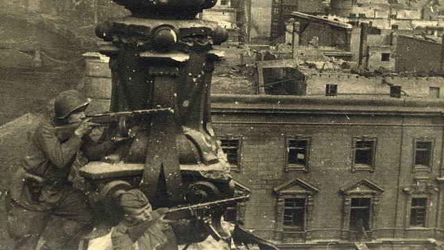 Russian soldiers are pictured on top of the Reichstag building in this undated photo taken May 1945 in Berlin (Photo: Reuters)