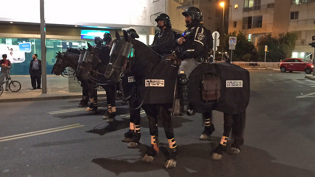 Mounted police units (Photo: Hillel Posek)