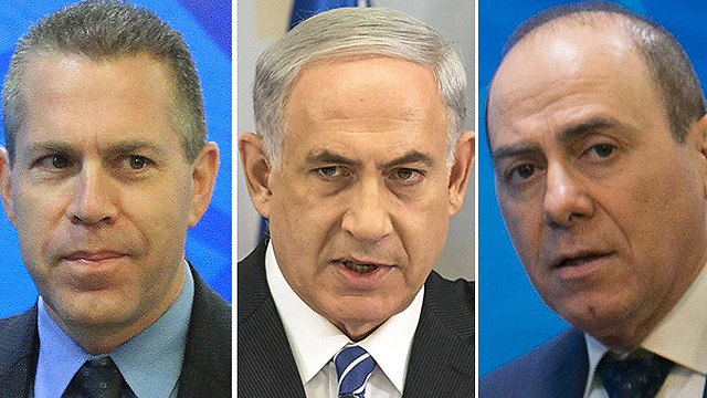 Erdan, Netanyahu, and Shalom (Photo: AFP, Ohad Zwigenberg, Alex Kolomoisky)