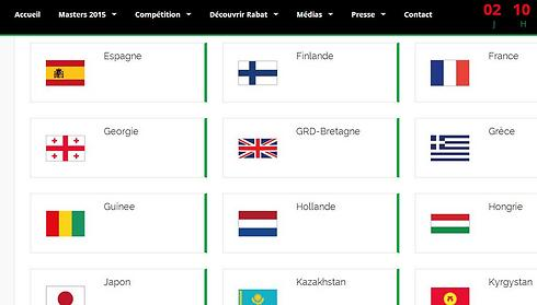 Israeli flag and list of Israeli athletes removed from competition's official website