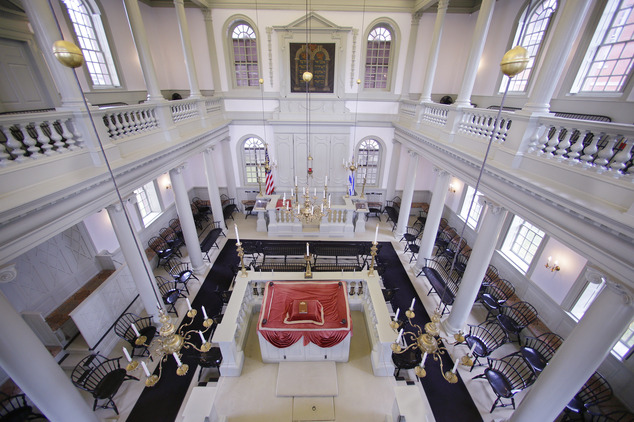 Touro Synagogue seen from the 'ladies gallery' (Photo: AP)