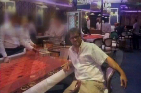 Hazan at Burgas casino. 'This man cannot serve as the young Likud members' representative in the Knesset' (Photo: Channel 2)