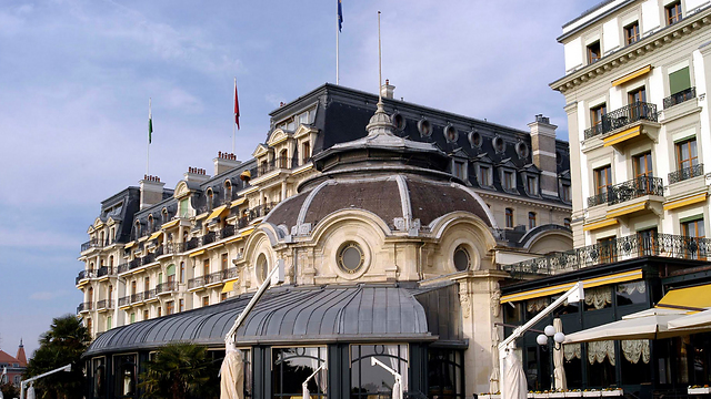 Beau Rivage Palace hotel in Lausanne, one of those allegedly targeted by the virus (Photo: Google)