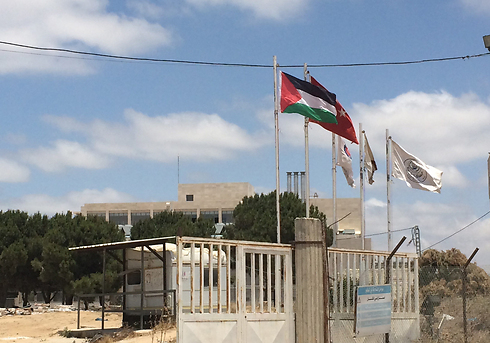 Turkish flag alongside the Palestinian flag. A hospital will be built there (Photo: Maurizio Molinari)