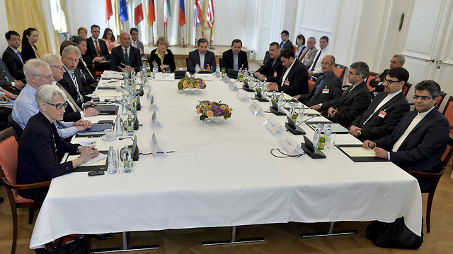 The negotiating table in Vienna. (Photo: EPA) (Photo: EPA)