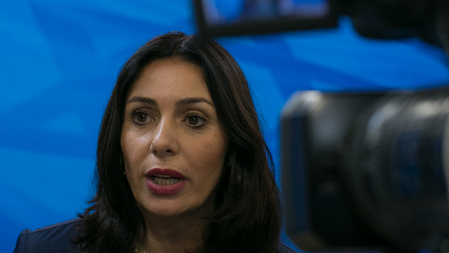 Culture Minister Miri Regev. There is a refusal she accepts from an ideological perspective and maybe even welcomes, and there is a refusal she punishes for from an ideological perspective (Photo: Ohad Zwigenberg)