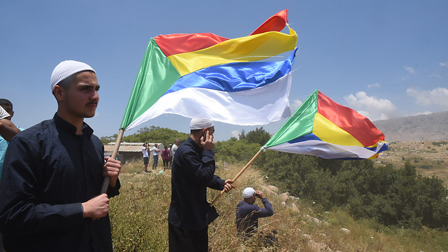 Israeli Druze near the border with Syria. (Photo: Avihu Shapira) (Photo: Avihu Shapira)