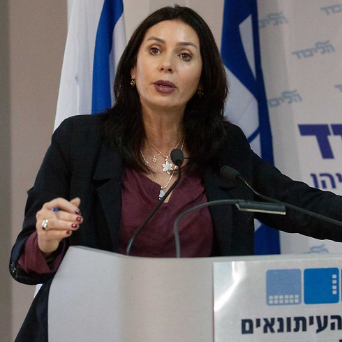 As a politician, Miri Regev knows that she must get elected in the Likud primary elections, and that the tens of thousands of voters will always choose the famous ones (Photo: Ido Erez)