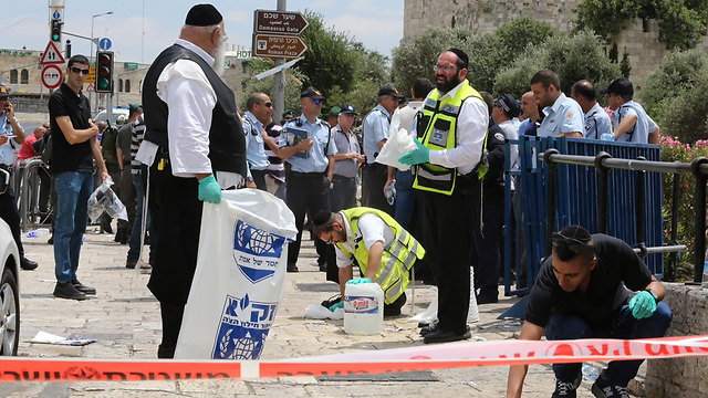 Scene of terror attack in Jerusalem (Photo: Gil Yohanan)