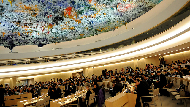 Israel's Ambassador to the UN in Geneva Aviva Raz Shechter said the UN Human Rights Council's 'theatre of the absurd cannot go on forever' (Photo: AFP)