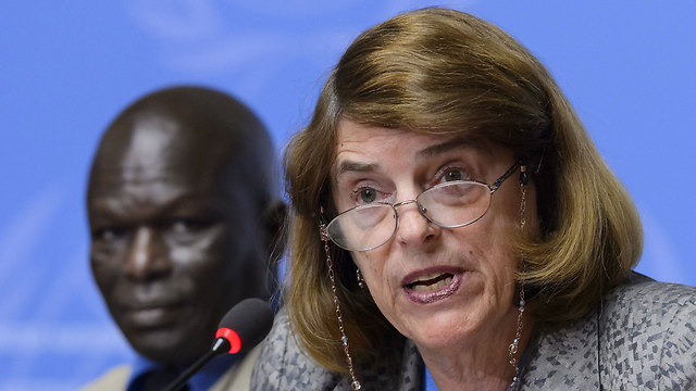 Former judge Mary McGowan Davis (right) with other commission member Doudou Diène (Photo: AFP) (Photo: AFP)