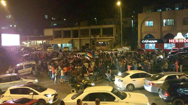 Druze protest in Majdal Shams after the incident on Monday night