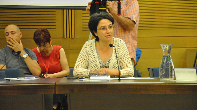 Haneen Zoabi at the House Committee meeting. (Photo: Ofer Meir) (Photo: Ofer Meir)