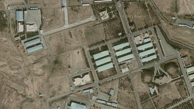 An aerial view of the Parchin military site.