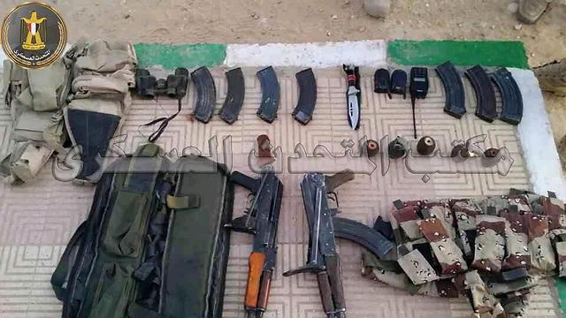 Arms seized by the Egyptian army
