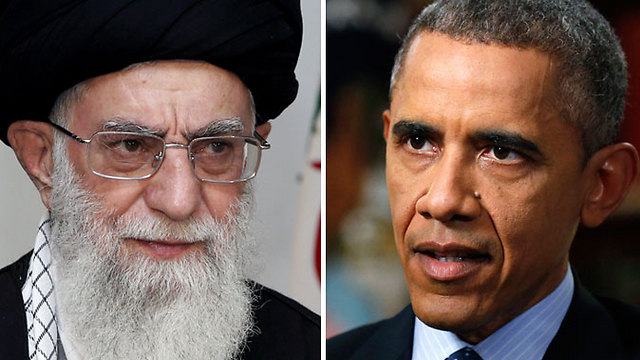 Obama and Iranian supreme leader Ali Khamenei. In order to establish a legacy for his failed foreign policy, the American president dishonored US allies in the Middle East (Photos: AFP, Reuters)