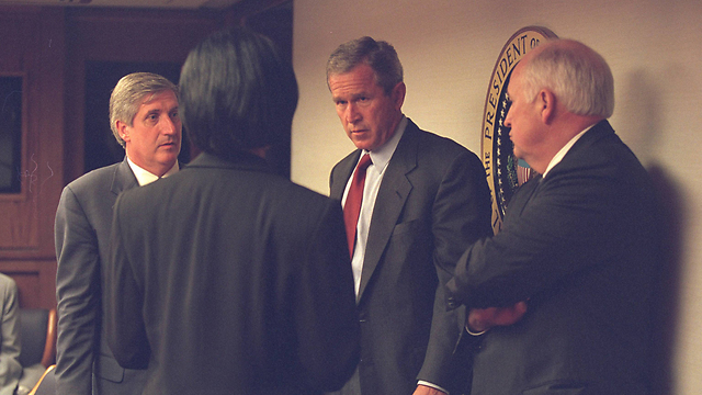 President George W. Bush with VP Dick Cheney on September 11, 2001 (Photo: Reuters)