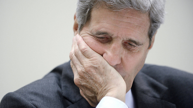 Kerry during the House of Representatives Foreign Affairs Committee hearing (Photo: AFP)
