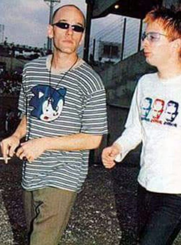 Michael Stipe and Thome Yorke in Israel on August 9, 1995