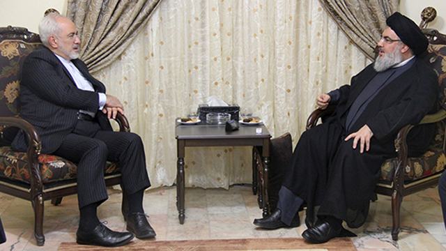 Hezbollah leader Hassan Nasrallah and Iranian Foreign Minister Mohammed Javed Zarif in Beirut (Photo: Reuters)