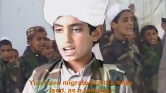 Hamza bin Laden as a child