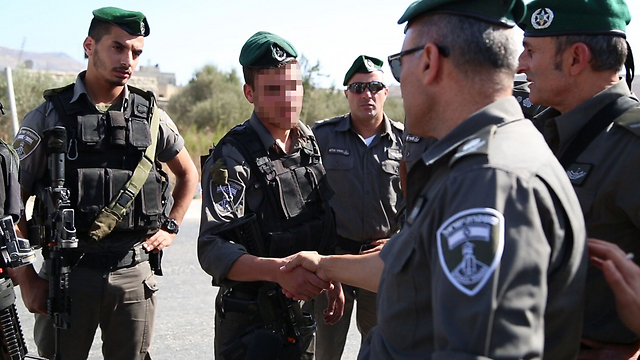Border Police soldiers in the West Bank (Photo: Police Spokesman)
