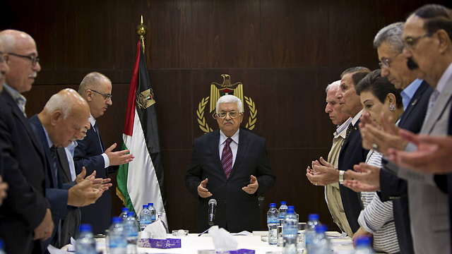 PLO meeting in Ramallah (Photo: Reuters) (Photo: Reuters)