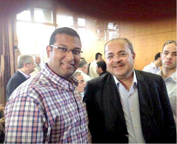 Hassanein meets with Joint Arab List MK Ahmed Tibi.
