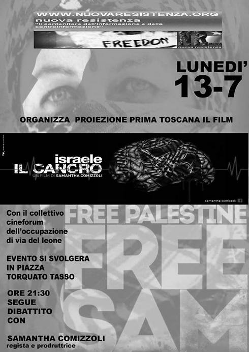 An invitation to the film's screening in Tuscany in July