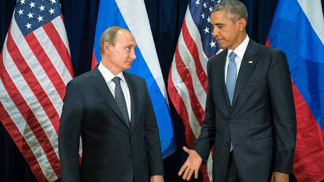 Putin and Obama meet on the sidelines of the UN. (Photo: EPA)