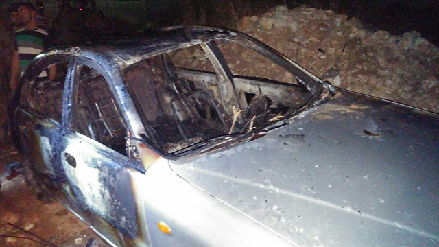 Torched Palestinian car torched in Beit Illu