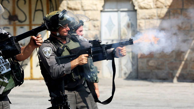 Police in clashes with Palestinians in Hebron this week. (Photo: MCT)