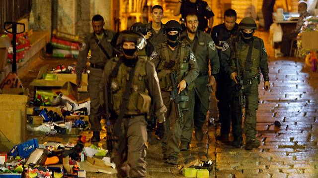 Border police forces in Jerusalem, after Saturday's deadly Terror attack (Photo: EPA)