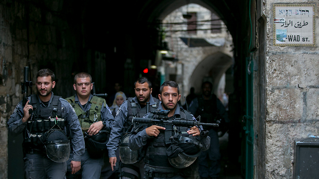 Border Police troops in Jerusalem (Photo: Ohad Zwigenberg)
