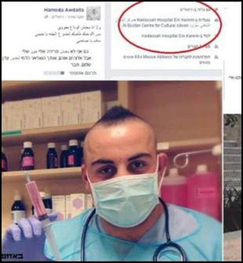 Arab employee fired from Hadassah after expressing solidarity with terrorist.