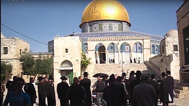 Jewish men at the Temple Mount