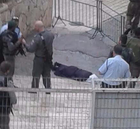 The terrorist after she was neutralized (Photo: Hebron security department)