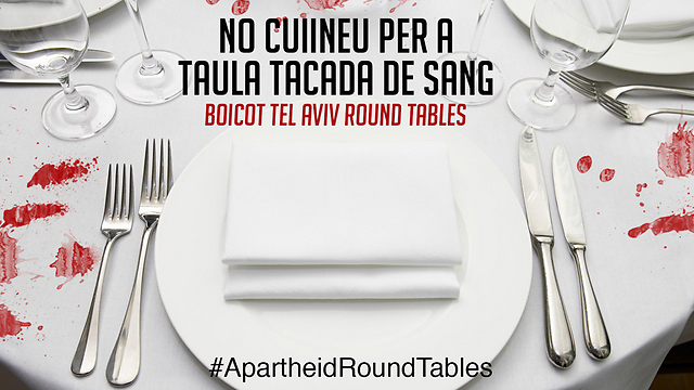 Ad in Spanish: 'Say no to a bloodstained table'